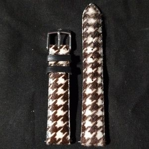 Geniune Michele Pony Hair Leather Watch Strap